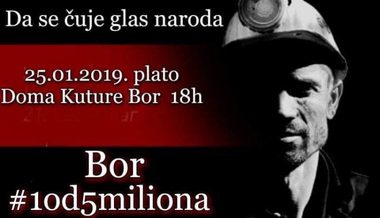 Večeras drugi protest u Boru #1od5miliona