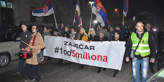 Prvi potest #1od5miliona održan u Zaječaru