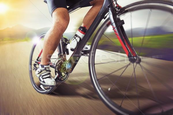 Velika vožnja bicikla kroz grad